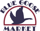A logo of Blue Goose